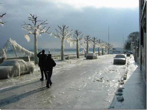 iced road